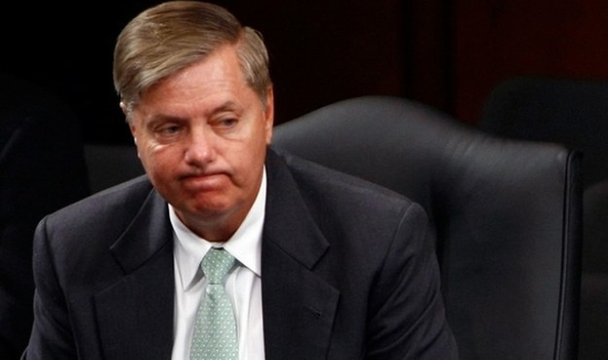 WASHINGTON - JULY 28:  Sen. Lindsey Graham (R-SC), the lone Republican on the Senate Judiciary Committee to vote in favor of the nomination of Supreme Court nominee Judge Sonya Sotomayor, listens to closing remarks after the committee voted on the Supreme Court nominee July 28, 2009 in Washington, DC. Sotomayor was endorsed by the committee by a vote of 13-6 and the nomination will now move to a vote before the full Senate.  (Photo by Win McNamee/Getty Images)