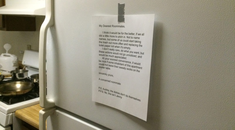 RoommatePassiveAggressive