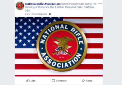"National Rifle Association Marks Itself ""Safe"" After Shooting"