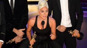 Lady Gaga weeps over her award for Best Original Song