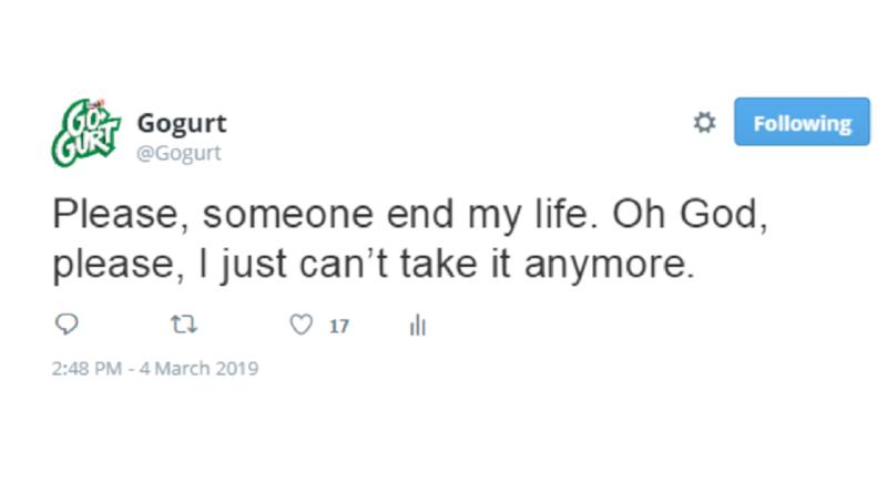tweet gogurt