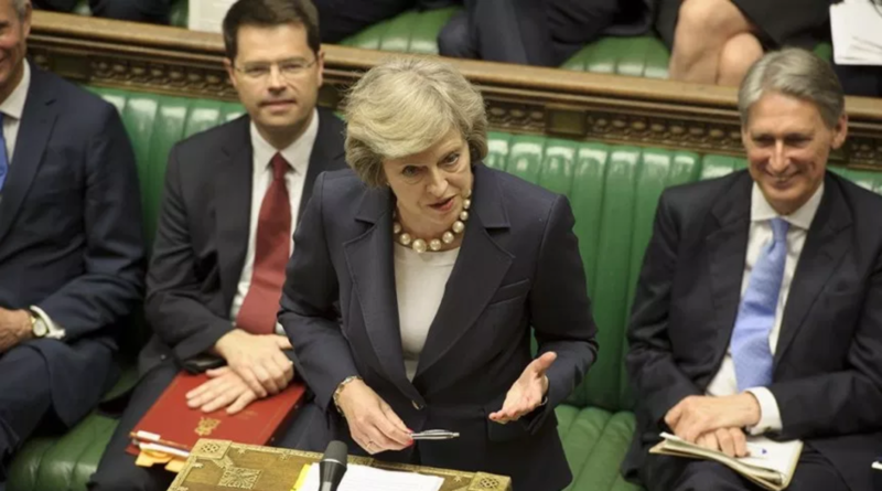 "Theresa May Excitedly Pitches ""Breturn"" to Parliament"