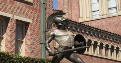 Tommy Trojan Struggles to Even Out Tan Lines