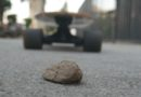 Huge Skateboard No Match For Tiny Rock