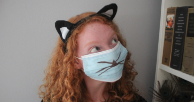 Halloween Fashion! How to Wear A Mask and a Cat Ear Headband at the Same Time- Oh God We're in Hell, Aren't We?