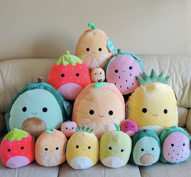 How many squishmallows do you currently have on your bed?